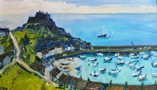 Hall-Alice-Mont Orgueil and Gorey Harbour, Jersey.jpg