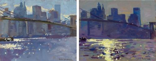 Howard_Ken_Manhattan,-Brooklyn-Bridge,-evening-light-(A-pair)-[Two].jpg