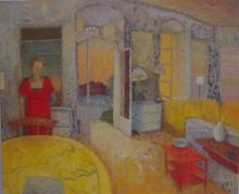 Jinivizian-Victoria-Interior, Patrick and Joan Leigh Fermor's Kardamyli.jpg