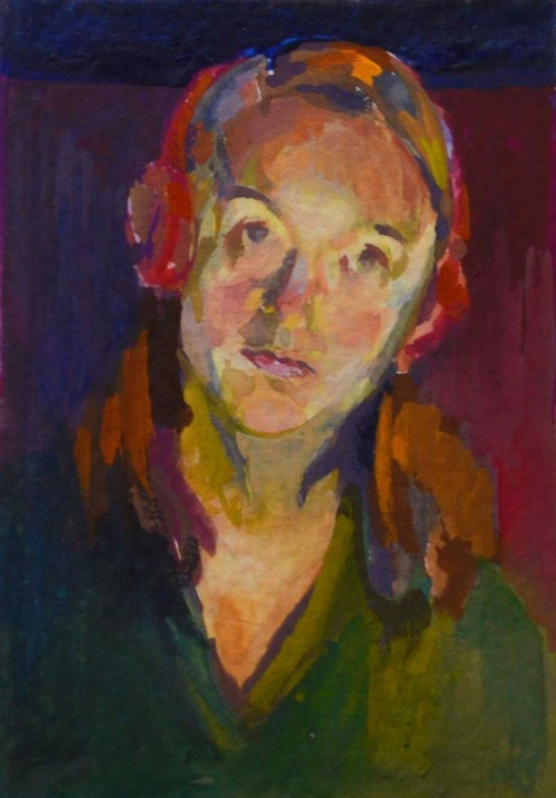 Self Portrait by Desk Light