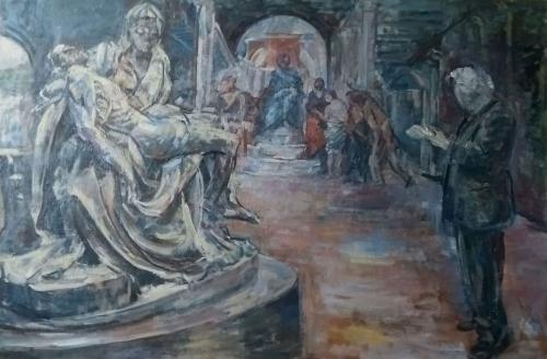 John Lessore John Wonnacott Drawing Michelangelos Pieta