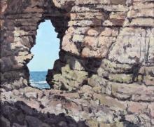 Mulcahy_Bruce_Sunlit cliffs with arch Flamborough head.jpg