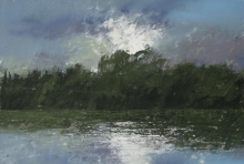 Perry-Robert-9.05PM, 11 June 2014. Silver Sunset on the Severn Near Arley.jpg