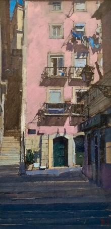Sawyer-David-The Pink House, Alfama. Lisbon.jpg