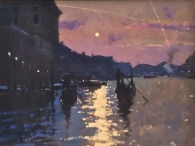 Sawyer-David-Two Gondolas. Sunset the Grand Canal.jpg