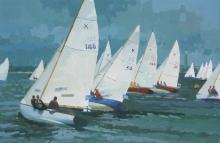 Smith-Elizabeth-X Boats Racing off Cowes.jpg