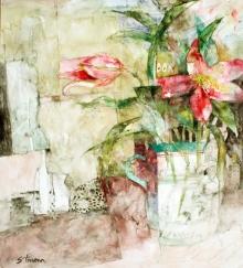 Trevena-Shirley-Two Pink Lilies.jpg