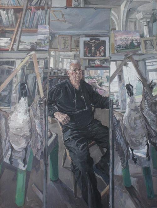 Wonnacott-John-Self-Portrait with Grunewald and Two Geese.jpg