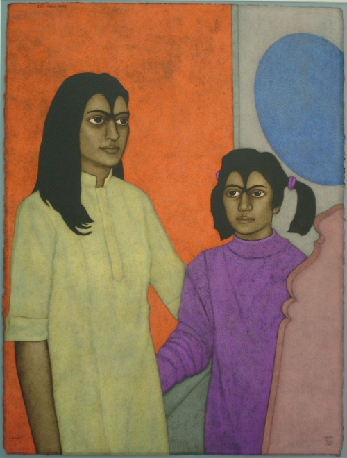 Mother and Daughter by Shanti Panchal buy art