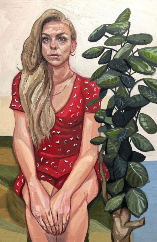 'Girl In Red Dress' by Ania Hobson