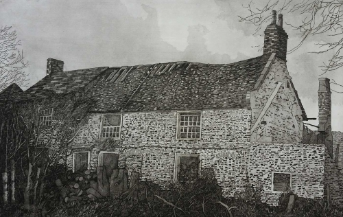 """The Abandoned Homestead"" Etching and Aquatint by Denis Baxter"