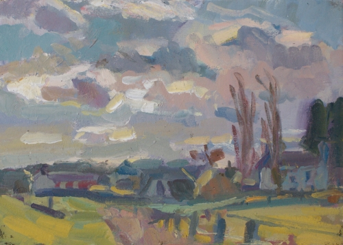 Andrew Farmer, Sky study over farmhouses Mall Galleries Buy Art