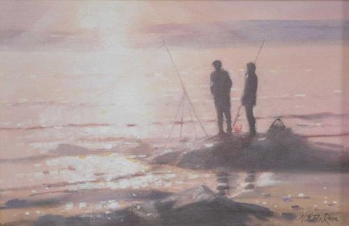 Fishing Near Sunset Nicholas St John Rosse