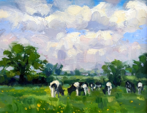 Lucy Kent Cows and Buttercups Mall Galleries