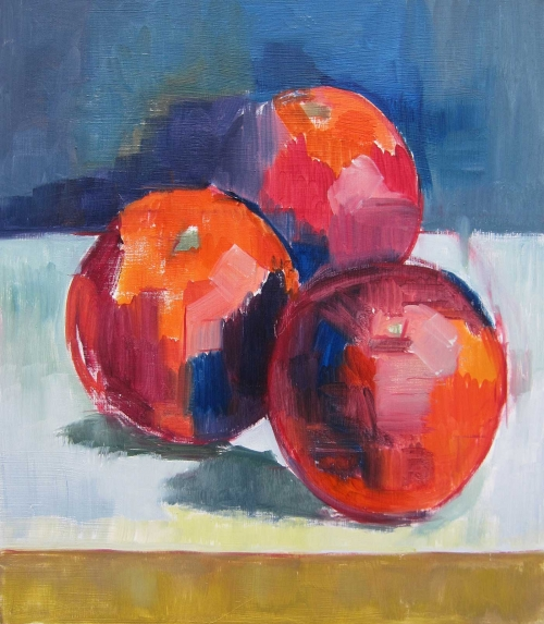 """Blood Oranges"" Oil on Wood by Eve Pettitt"""