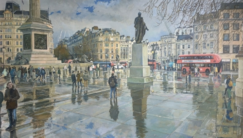 Richard Cook After the Rain Trafalgar Square