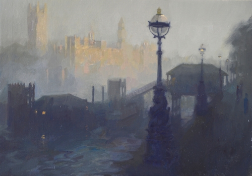 """Westminster"" Oil on Canvas by Frances Bell"