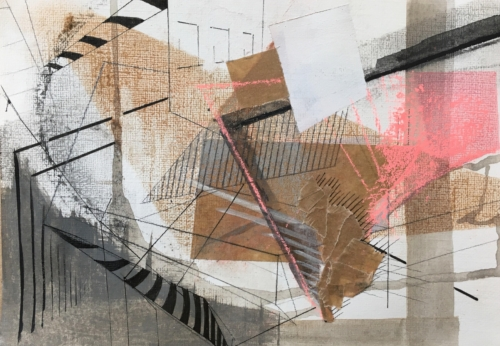 """""""Urban Billow"""" Mixed Media on Paper by Gail Seres-Woolfson"""