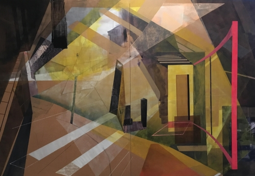 """""""Urban Sunshine"""" Acrylic and mixed media on board by Gail Seres-Woolfson"""