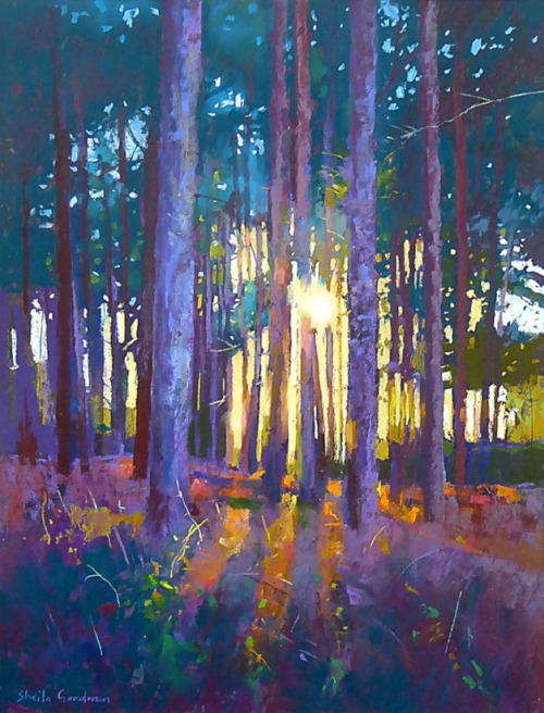 """Evening Sunlight"" Pastel by Sheila Goodman"