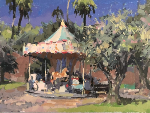 WEB Haidee-Jo Summers - Carousel And Olive Trees At Cimiez.jpg