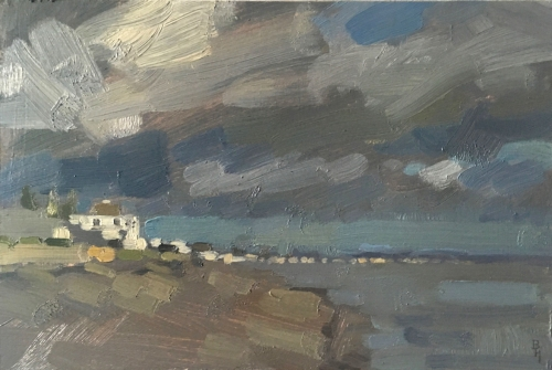 """Sky, Bathurst"" Oil on Panel by Benjamin Hope"