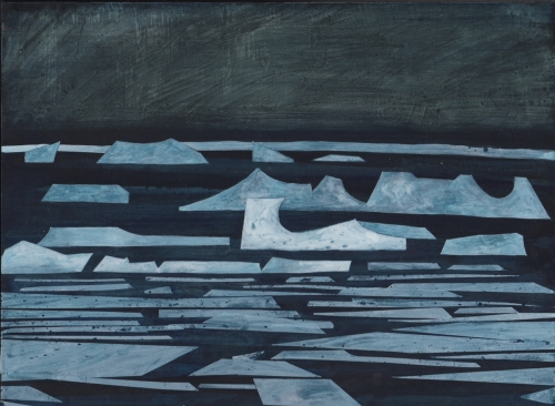 """Innuit Ice"" Egg Tempera; gesso on plywood by Andrew Lansley"