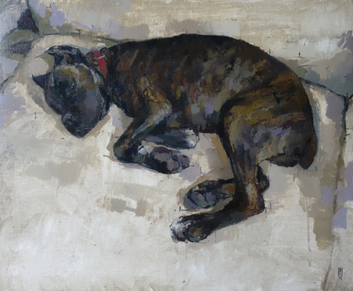 """Millie"" Oil on Linen by Bernadett Timko"