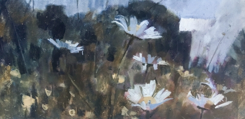 """Oxeye Daisies 3"" Oil on Canvas by James Bland"
