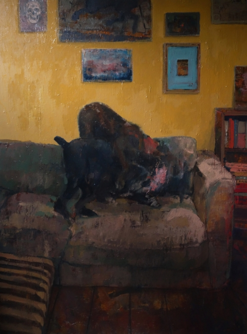 """Playfight"" Oil on Linen by Bernadett Timko"