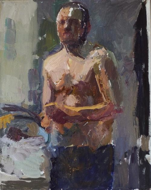 """Self-portrait Painting"" Oil on Canvas by Daniel Shadbolt"