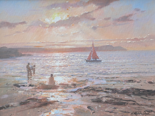 Nicholas St John Rosse, Sailing Near Sunset