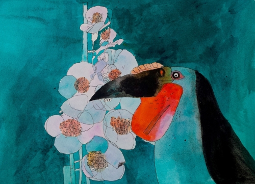 """Toucan"" Watercolour and Ink by Jack Haslam"