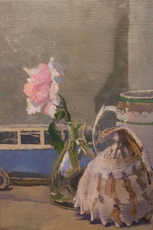 'Still Life with Wooden Volkswagen' oil painting by Toby Ward