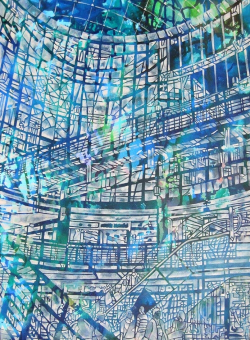 """Escalation"" Acrylic on Board by Debbie Ayles"
