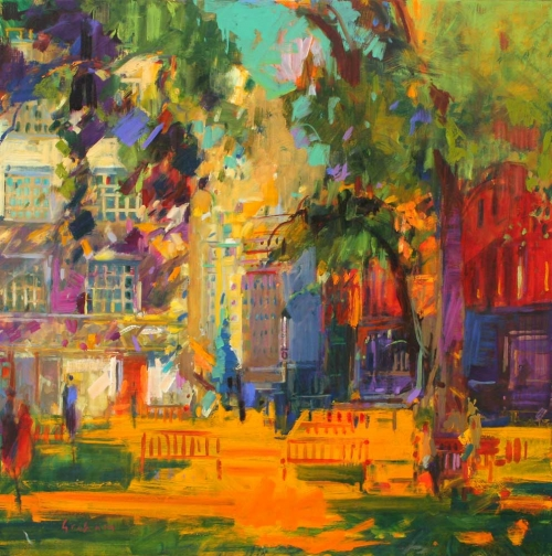 'Berkeley Square' oil painting by Peter Graham ROI