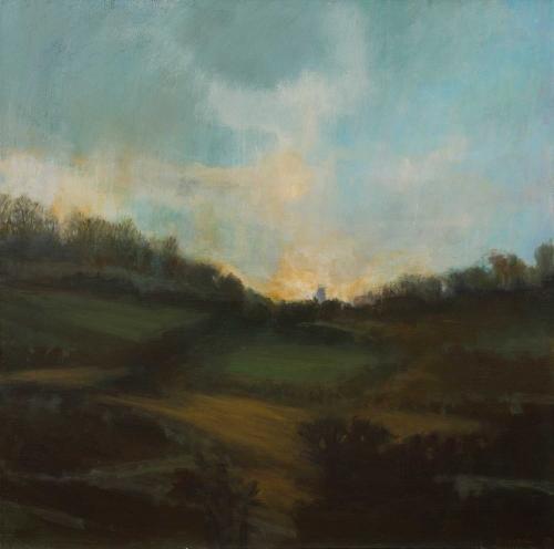 'Evening Fields' oil painting by Annie Boisseau
