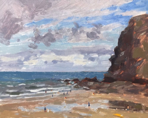 """Crackington Haven, Cornwall"" Oil on Board by Clare Bowen"
