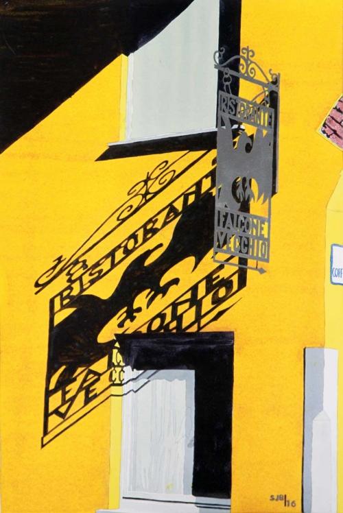 """""""Falcone"""" Watercolour by Stephen J Bragg"""
