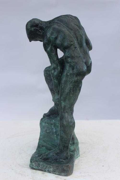 """""""Working Man"""" Bronze Sculpture by Callum Stannard"""