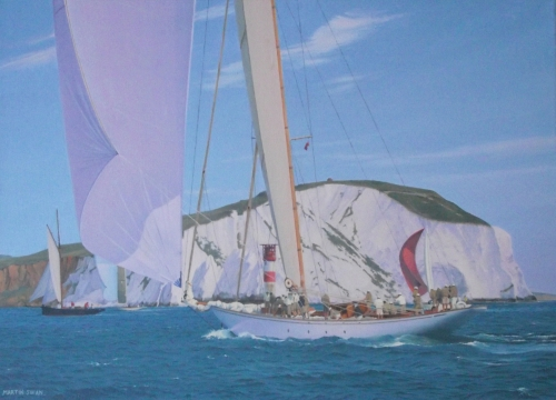 """Cambria at The Needles"" Oil on Canvas by Martin Swan"