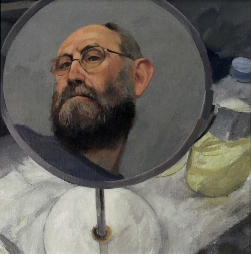 'Self Portrait with Mirror' by James Crittenden