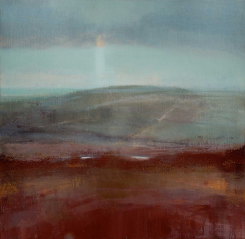 """South Downs landscape – Mill Hill Panorama IV"" Oil on Birch Panel by David Scott Moore"