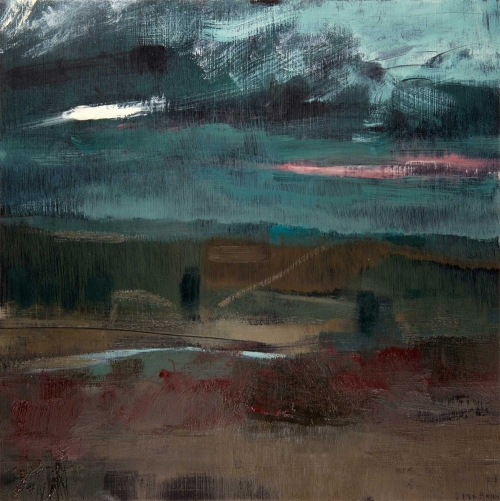 """South Downs – Mill Hill III"" Oil on Birch Panel by David Scott Moore"