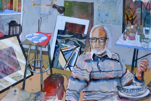 """Artist in this Studio"" Watercolour by David Douglas"