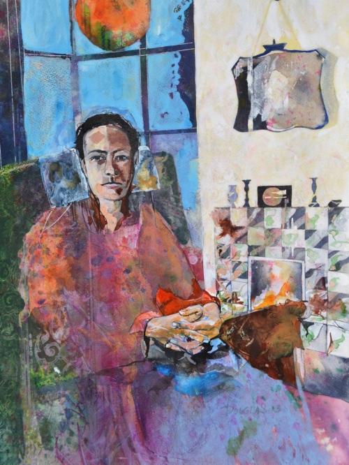 """""""Young Woman"""" Watercolour by David Douglas"""