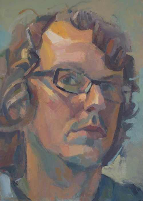 """Self Portrait 3"" Oil on Canvas by Andrew Farmer"