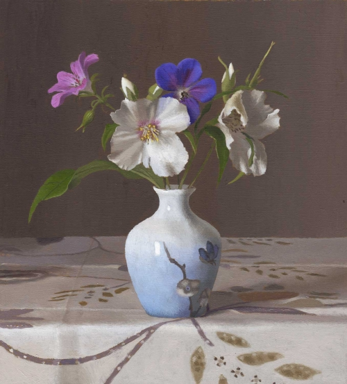 """Spring Flowers"" Oil on Board by Jeremy Galton"