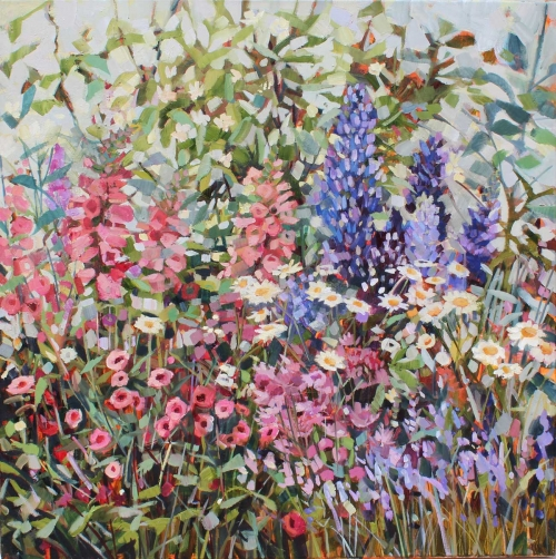 'Garden Wall' oil painting by Anne-Marie Butlin