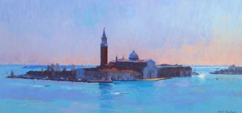 'Venice Lagoon' pastel painting by Sheila Goodman